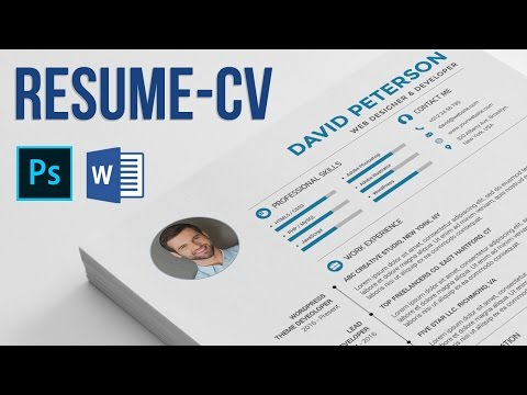 Resume / CV how to edit and use? - Photoshop and Microsoft Word