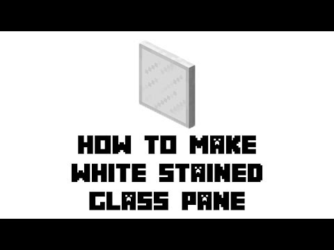 Minecraft Survival: How to Make White Stained Glass Pane