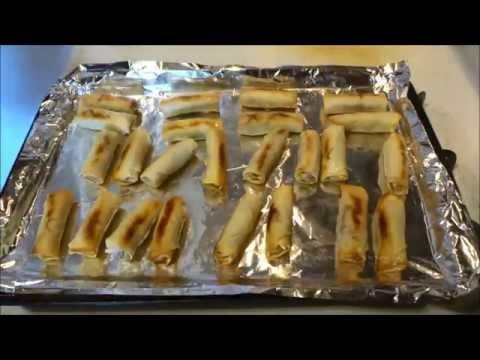 Baked Spring Rolls - Super Crunchy!