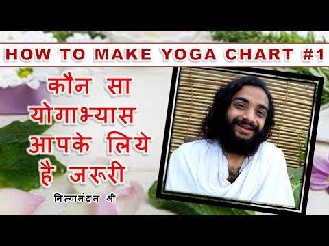YOGA CHART | HOW TO MAKE YOGA ROUTINE CHART | BEST YOGA FOR YOU BY NITYANANDAM SHREE