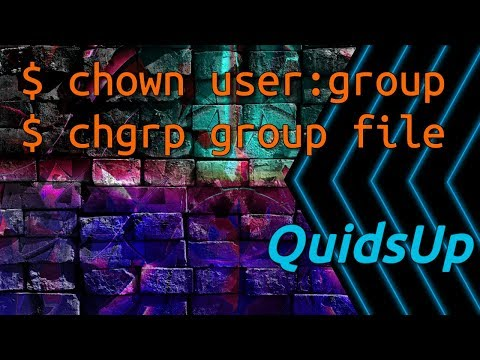 Linux Terminal Basics: chown, chgrp - File Ownership