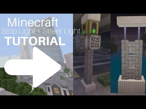 Minecraft - XBOX ONE - Stop Light + Street Light Tutorial