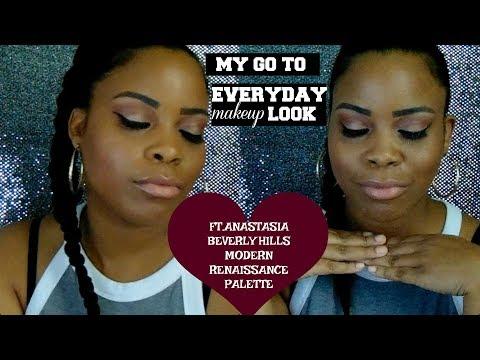 MY GO TO EVERYDAY MAKEUP LOOK||FT.ANASTASIA MODERN RENAISSANCE  PALETTE