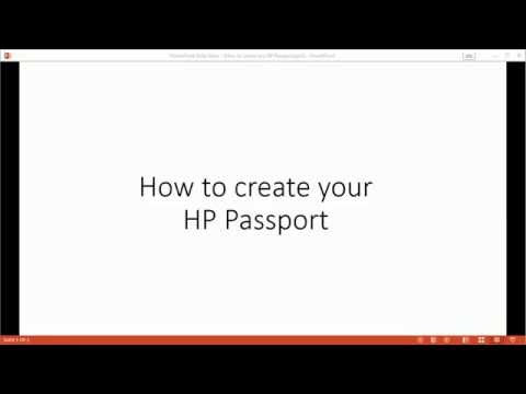 How to Create your HP Passport