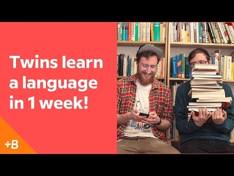 Identical Twins Attempt To Learn A Language In A Week | Babbel