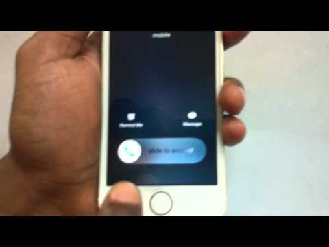 How to reject an incoming call on iPhone when it is locked?