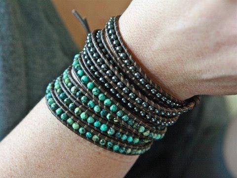 Iheartjenna - Bohemian Leather Wrap Bracelets