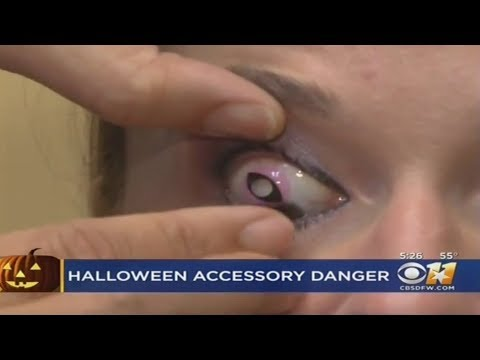 Decorative Contact Lenses Can Cause Damage