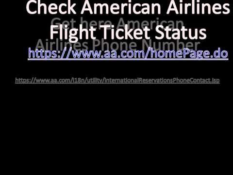 Get American Airlines Phone Number & Check Flight Status
