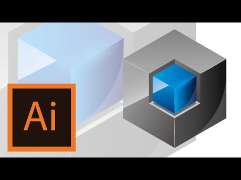 Cube logo tutorial -Illustrator //LOGO ILLUSTRATOR//