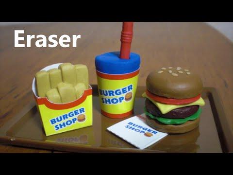 DIY Eraser Kit 3 - Let's Make Hamburger shaped Eraser 🍔