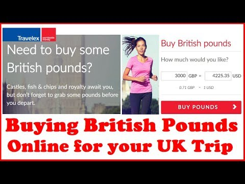 Buying British Pounds Online for your UK Trip