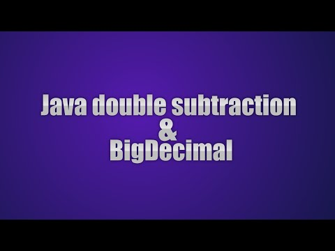 Java Tricky Program 20 - double subtraction and BigDecimal