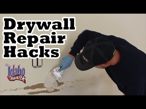 How To Fix A Hole In the Wall.  Patching Drywall.