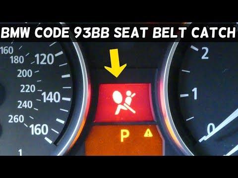 BMW CODE 93BB SEAT BELT CATCH CONTACT PASSENGER  SEAT BELT BUCKLE AIRBAG LIGHT