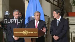 Switzerland: UN Cyprus reunification talks 'coming very close' to delivering – Guterres