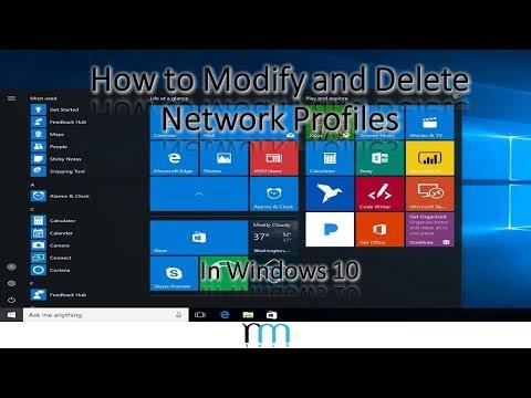 How to Modify/Delete Network Profiles in Windows 10