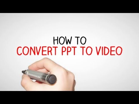 Convert ppt to video