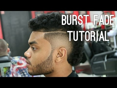 USHER HAIRCUT burst fade w/ Long Curly Hair | Step by Step south of France Tutorial!