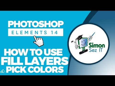 How to Use Fill Layers and Pick Colors in Adobe Photoshop Elements 14 Tutorial