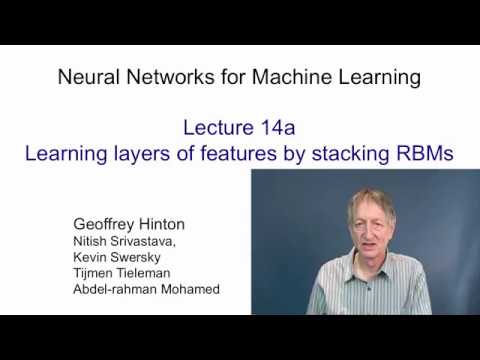 Lecture 14.1 — Learning layers of features by stacking RBMs — [ Deep Learning | Hinton | UofT ]