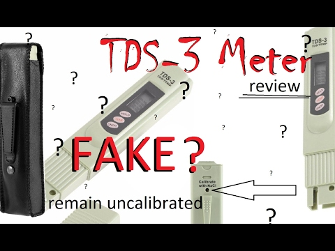 FAKE? TDS-3 Meter from eBay - Setup, Test, In depth review - (TDS meter, water test, RO water)