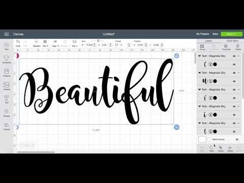 How to weld your letters in Cricut Design Space