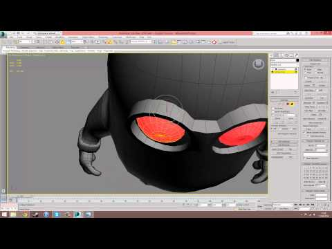 Modelling A Minion In 3Ds Max - 5 Eyes Goggles and Hair