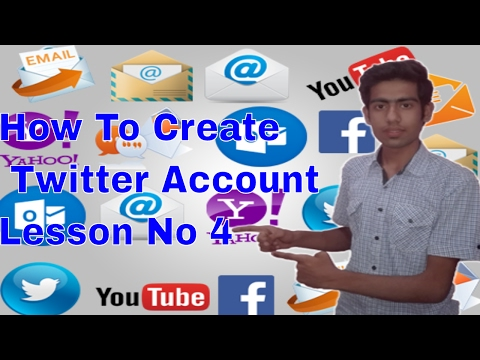 How To Create Twitter Free Email ID/Address/Account Tutorial in Urdu and Hindi Lesson no 4 ✉