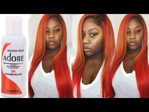 Dying My Hair Orange w/ Bleach || Ali Moda Peruvian Water Wave (Part 2/2)
