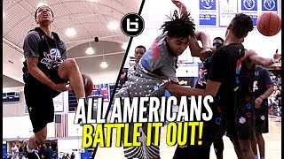 All American Players GOING AT Each Other! 1 on 1 Battles ALL Game! Pangos AA Top 25 Full Highlights