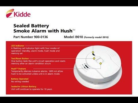Kidde Sealed Lithium Battery Power Smoke Alarm  i9010