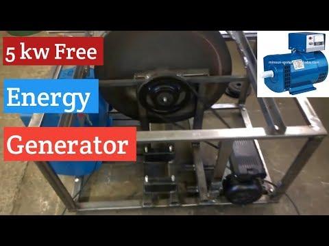 Flywheel Energy Generator /without Diesel engine and battery /Urdu /Hindi