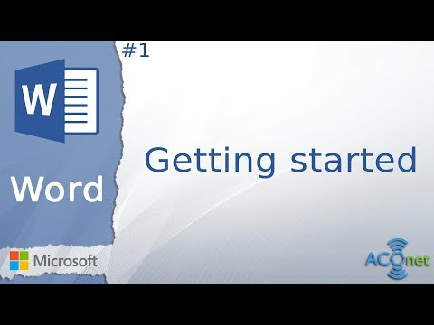 MICROSOFT WORD: Getting started (lesson 1)