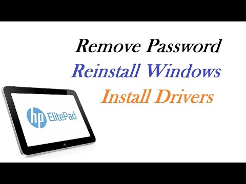 HP Elite Pad 900 - Remove Password / Reinstall Windows / Install Drivers