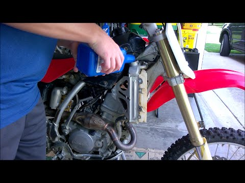 How to change radiator coolant on Crf150r