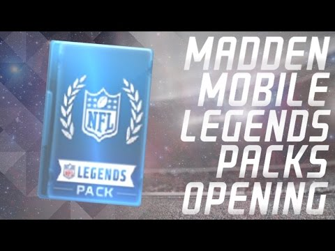 ROOKIE PULL! Madden Mobile Legend Packs Opening