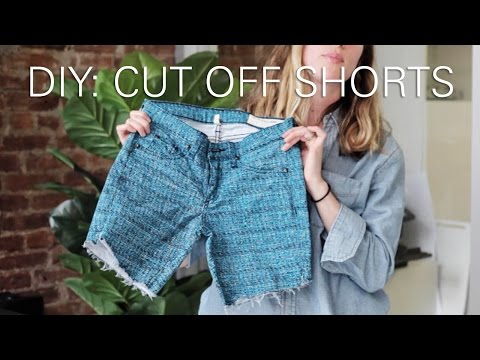 How To Make Cut Off Shorts From Jeans