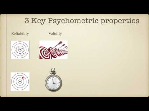 Crash course in psychometric testing - Module 3: Reliability, Validity and Norms