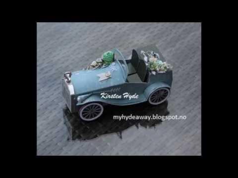 Paper vintage car tutorial