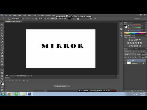 How To Mirror Text In Photoshop CS6