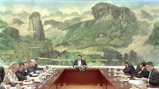 Chinese President Xi meets with SCO foreign ministers