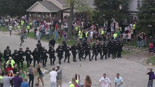 Riot Police Disrupt INSANE College Party