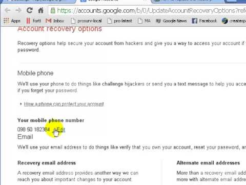 How to change mobile number in gmail