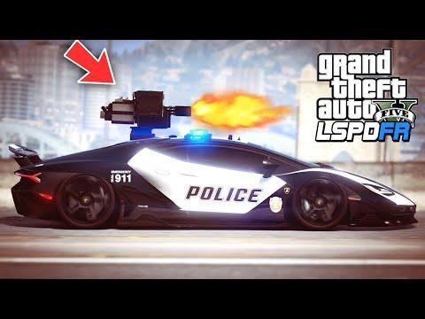 Download GTA 5 - LSPDFR Ep397 - Lamborghini Police Car w