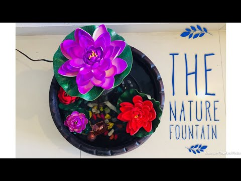 How to make easy water fountain at home    DIY