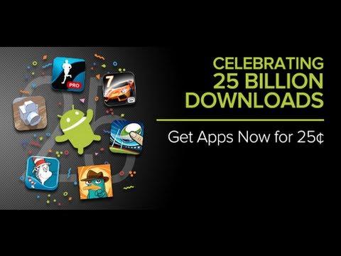 Act Now Google Apps at discount 25 billion app celebration
