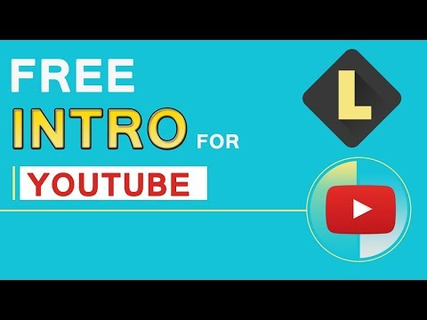 How to make free intro for videos.text,background music, animation option.