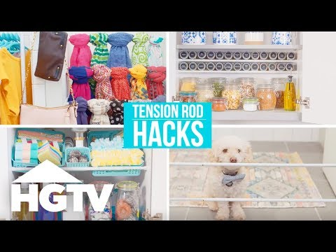 4 Genius Tension Rod Hacks - Easy Does It - HGTV