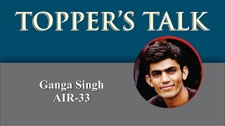Ganga Singh - UPSC (CSE) 2016  AIR-33 (Second Ranker in Hindi Medium) Dhyeya IAS